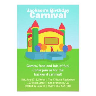 "Kids Birthday Party - Happy Backyard Carnival 5"" X 7"" Invitation Card"