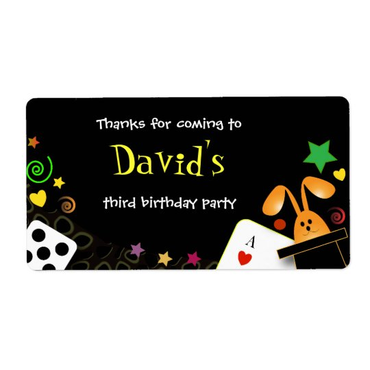 Kids birthday party Magical Party Shipping Label