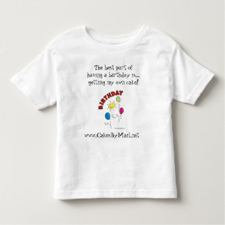 Kids Birthday shirt, my own cake Toddler T-shirt