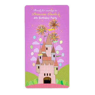 Kids Birthday Thank You Sticker: castle II