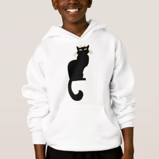 Kid's Black Cat Hoodie Black Cat Kid's Sweatshirt