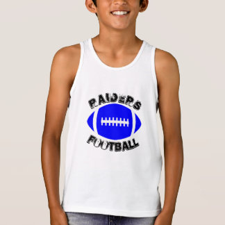 Kids Blue Football Sleeveless Tank Top Shirt