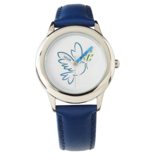 Kids blue glitter watch