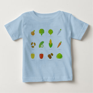 KIDS blue t-shirt : veggie