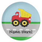 Kids Boys Construction Dumptruck Plate