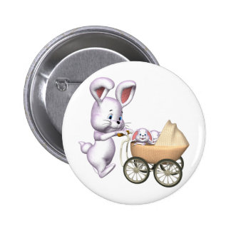 Kids Bunny Rabbit T Shirts and Kids Gifts 2 Inch Round Button