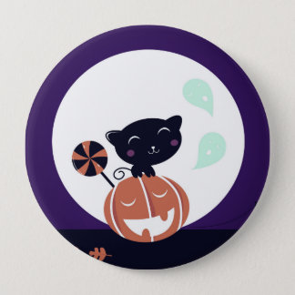 Kids button with Black cat