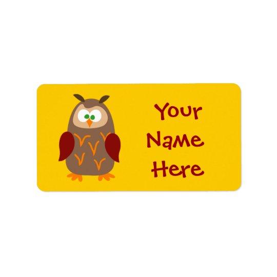 Kids Camp Owl Label