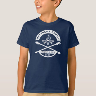 Kids' Camping Trip Reunion Shirt | White Design