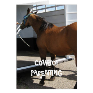 Kid's Car Seat - Cowboy Parenting NOTECARD SIZE