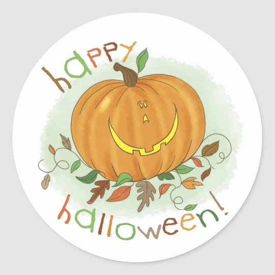 Kids Cartoon Pumpkin Sticker