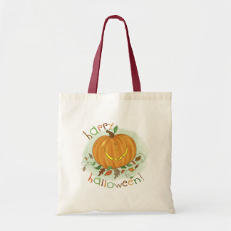 Kids Cartoon Pumpkin Trick-or-Treat Tote Bag