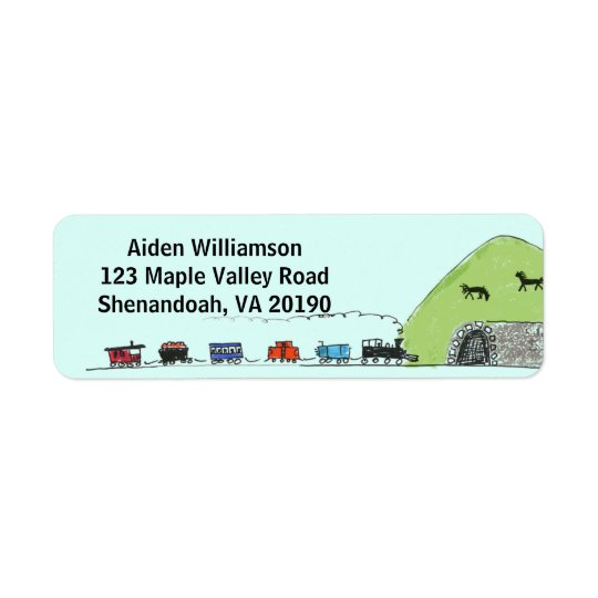 Kids Choo Choo Train Address Labels