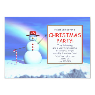 Kids' Christmas Party Snowman Card