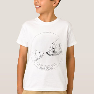 Kid's Churchill Polar Bear Shirt Bear Art T-Shirt