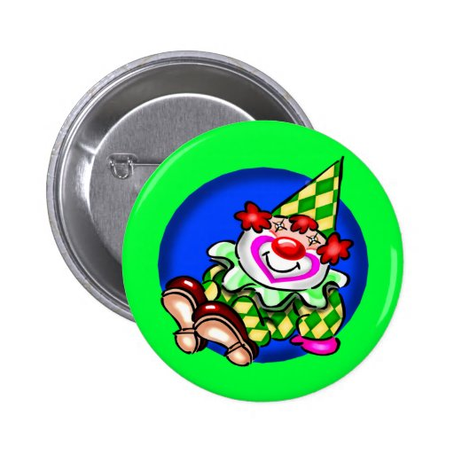 Kids Circus Clown T Shirts and Gifts Pinback Buttons