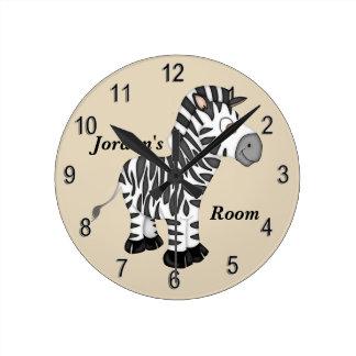 Kid's Clock Cute Baby Zebra