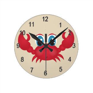 Kid's Clock Cute Happy Crab