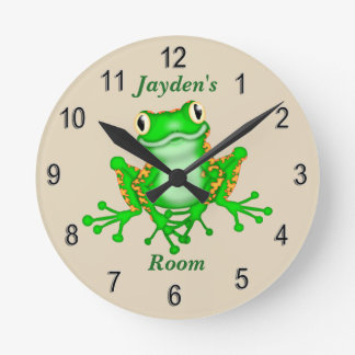 Kid's Clock Cute Tree Frog