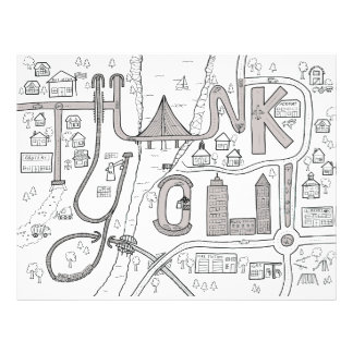 Kids Coloring Thank You letter Letterhead Design
