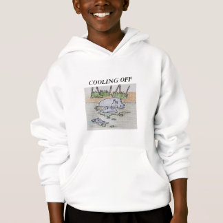 KIDS'  COMFORTBLEND HOODIE - HIPPOS COOLING OFF