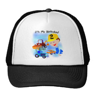 Kids Construction 2nd Birthday Tshirts and Gifts Trucker Hats