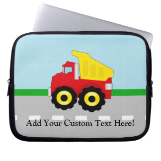 Kids Construction Dumptruck Laptop Sleeve
