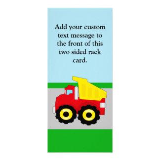 Kids Construction Dumptruck Rack Card