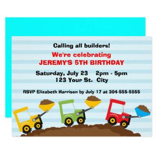 Kids Construction Site Birthday Card