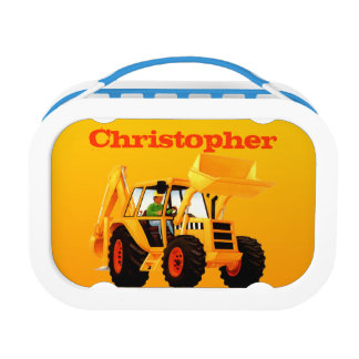 Kid's Construction Yellow Digger Lunch Box