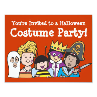 Kids Costume Party Invitations