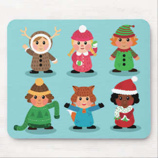 Kids costumes in winter Mousepad