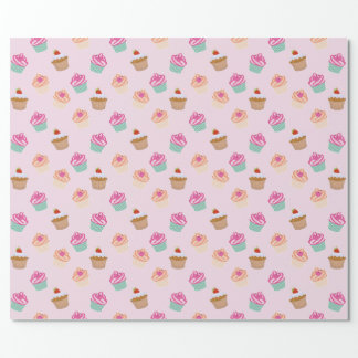 Kids Cupcake Gift Wrapping Paper