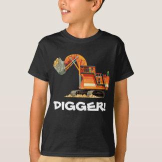 Kid's Custom Construction Truck Digger T-Shirt