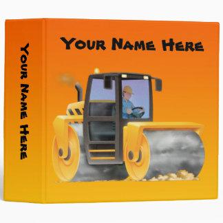 Kid's Custom Construction Truck Road Roller Binders