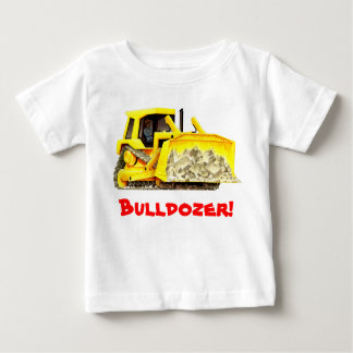 Kid's Custom Construction Trucks Bulldozer Baby T-Shirt