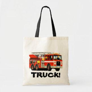 Kid's Custom Fire Truck tote bag