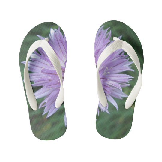 Kids Custom Flower Flip Flops