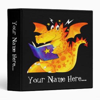 Kid's Custom Funny Magic Baby Dragon Vinyl Binder