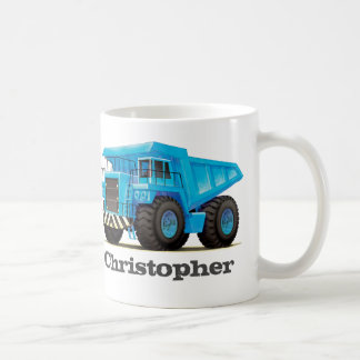 Kids Custom Name Construction Dumper Truck Coffee Mug