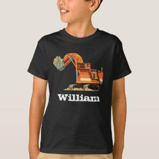Kid's Custom Name Construction Truck Digger T-Shirt