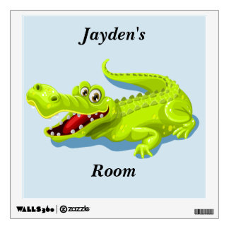 Kid's Cute Baby Alligator Wall Sticker