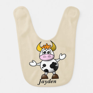 Kid's Cute Baby Cow Bib