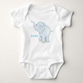 Kid's Cute Blue Baby Elephant Baby Bodysuit