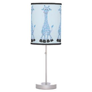 Kid's Cute Blue Giraffe Table Lamp