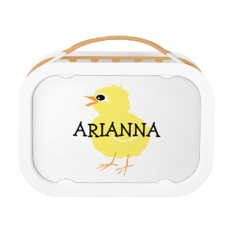 Kids Cute Fluffy Yellow Chick Girls Personalized Lunchboxes