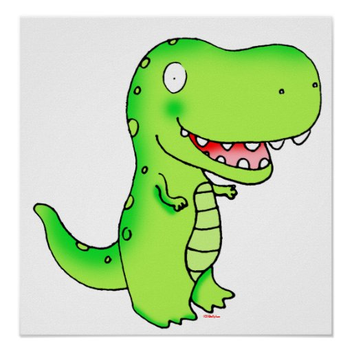 kids cute funny cartoon t-rex print | Zazzle