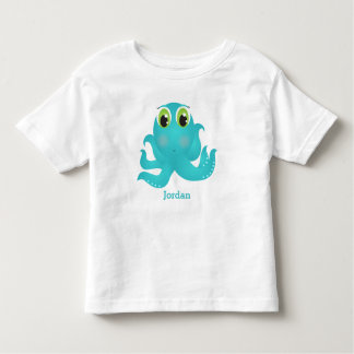 Kid's Cute Happy Octopus Toddler T-shirt