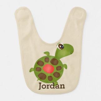 Kid's Cute Happy Tordus Turtle Bib