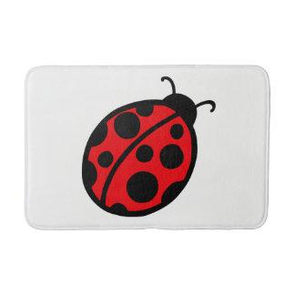 Kids Cute Red Ladybug Bathroom Bath Mat Rug